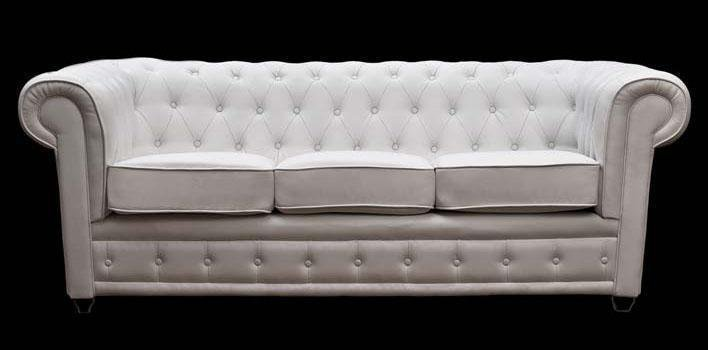 Sofa Chester  polipiel Blanca