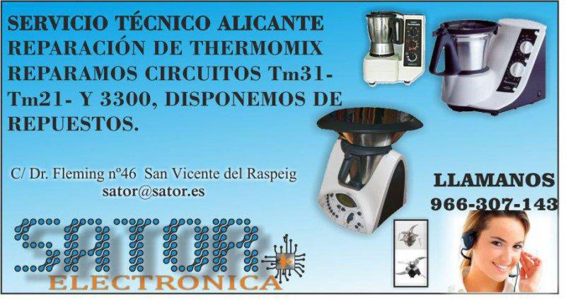Reparación de thermomix en Alicante