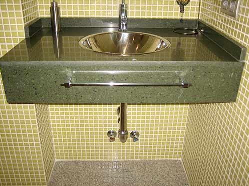 Encimera lavabo granito verde