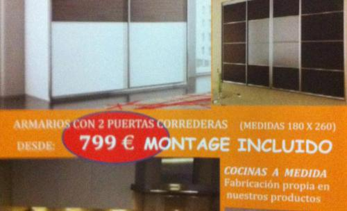 Muebles de cocina, armarios y puertas a medida en Valencia