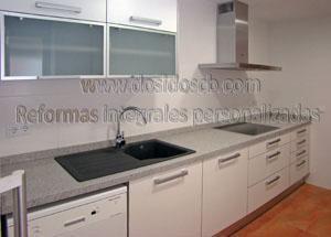 Dosidos CB reforma de cocina blanca en Valencia