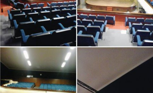 Sin duda es uno de nuestros proyectos más ambiciosos, habiendo llevado a cabo una reforma completa para el Teatro Cervantes de Sax: tapizado de todas las butacas, confección de cortinas, telón y enmoquetado de todas las paredes. Para ello, hemos utilizado
