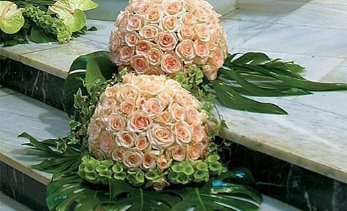 Flores para la ceremonia