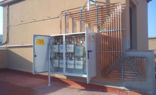 instalacion de gas  comunitario