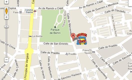 Mapa ( Calle pradillo esquina con calle Marcenado) chamartín