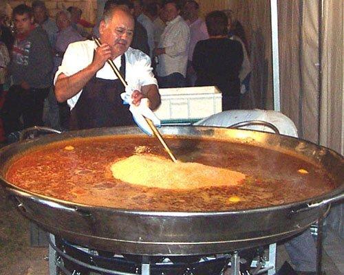 Paellas gigantes para fiestas populares