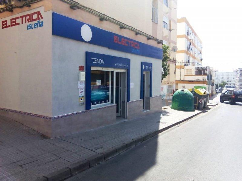 Tienda suministro de electricidad y antenas Eléctrica Isleña San Feranando Cádiz