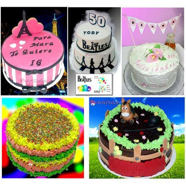 Collage diferentes tartas