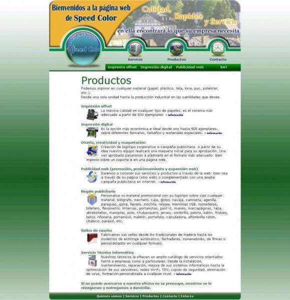 Speedcolorsl Servicios Publicitarios Productos