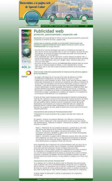 Speedcolorsl Servicios Publicitarios Publicidad Web