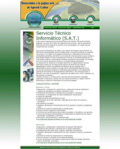 Speedcolorsl Servicios Publicitarios Servicio Técnico Informático