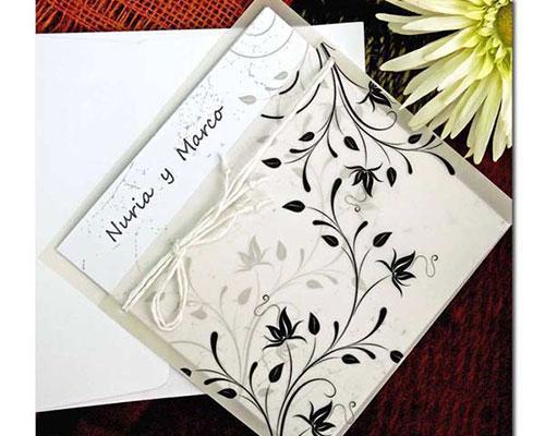 Invitaciones de boda card novel