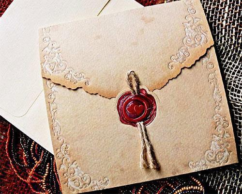 Invitaciones con sello