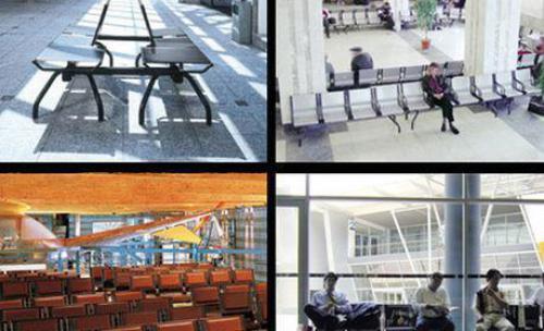Asientos para recepción oficinas, clínicas, bibliotecas, aeropuertos