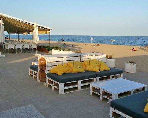 Restaurante a pie de playa