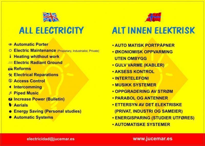 servicios en Ingles y Noruego