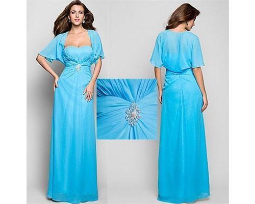 Vestido azul con manga