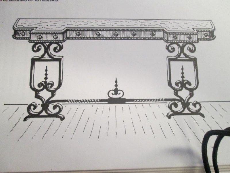 mesa de hierro artesania en fragua segun medidas
