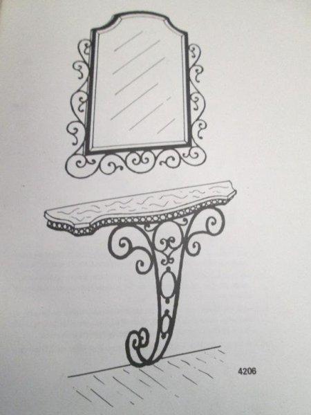 entradita con espejo de hierro artesania en frafua segun medidas