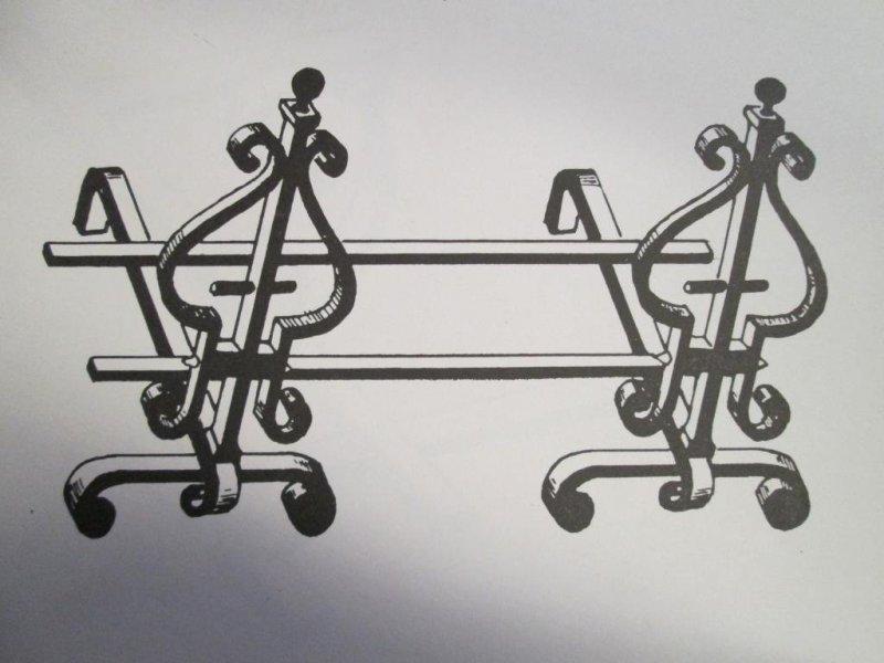 leñero para chimeneas artesania en fragua segun medidas