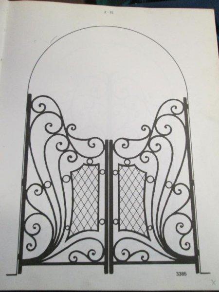 reja entrada dos hojas en hierro artesania en fragua segun medidas