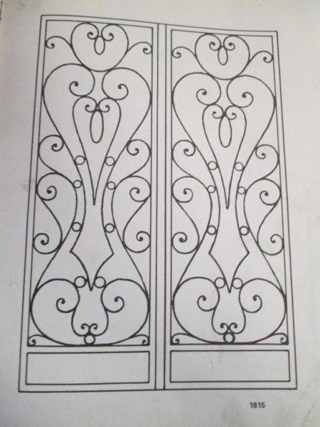puerta dos hojas hierro artesania en fragua