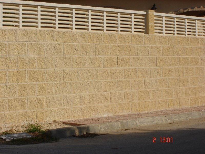 muro de bloque de hormigón split