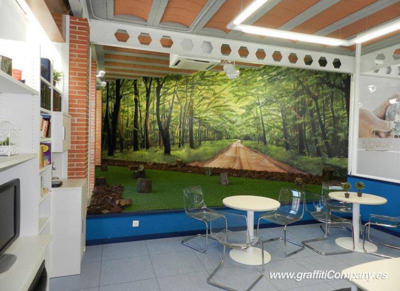 Decoración mural en empresa de La Garena (Madrid)