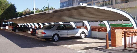 Marquesinas metálicas para parkings