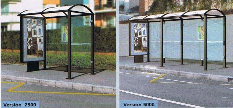 Marquesinas peatonales para paradas de bus