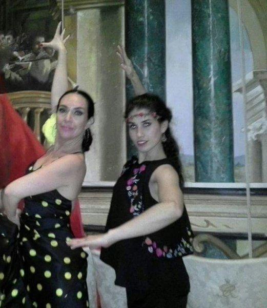 Con la bailaora Yolanda Gaviño