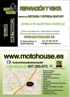 Mientras estás trabajando, comprando, en casa.... nosotros te recogemos la moto, la reparamos y te la devolvemos donde quieras DE FORMA GRATUITA* !!!!!!