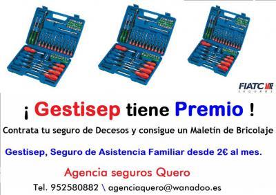 Gestisep tiene premio.<div>Gestisep, tu seguro de Decesos desde 2€ al mes.</div><div>Agencia seguros Quero</div><div>Tel. 952580882 \ agenciaquero@wanadoo.es www.facebook.com/agenciaseguros.quero</div>