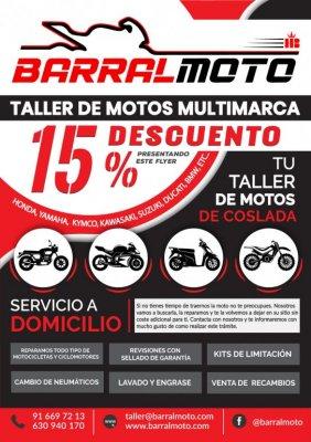 Ven a visitarnos y llévate un 15 % de descuento en TALLER y BOUTIQUE DE MOTO.